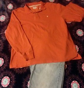 American Eagle Outfitters long sleeve polo shirt